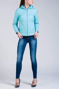 Короткая куртка с капюшоном (голубая) CONVER со скидкой