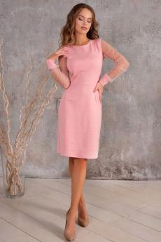 Новинка: розовое котельное платье со стразами Open-Style