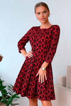 Новинка: красное жаккардовое платье Open-Style
